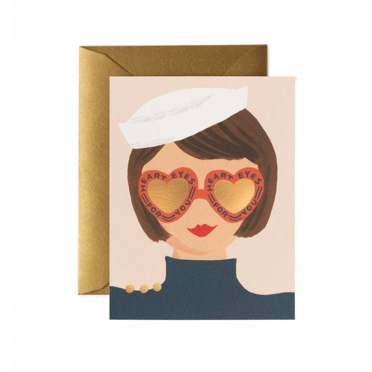 RIFLE PAPER CO - Greeting card - Heart Eyes