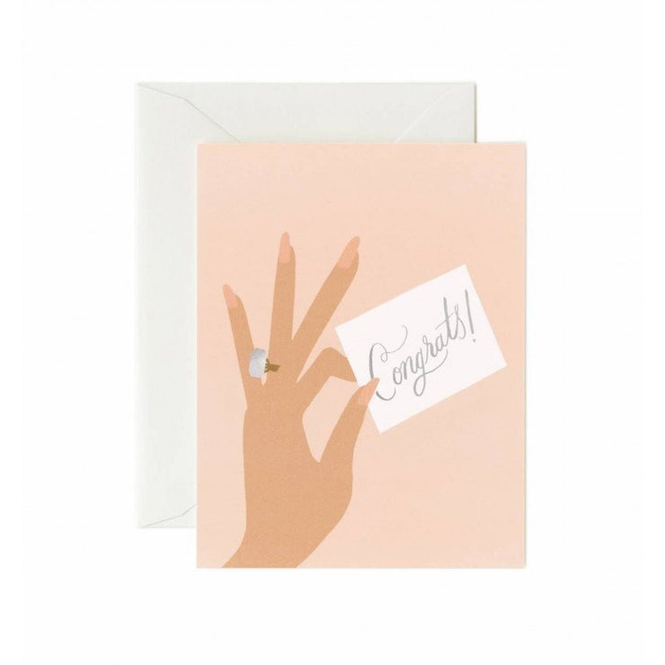 RIFLE PAPER CO - Congrats ring wedding card