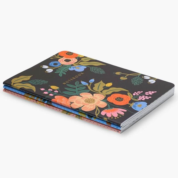 Set of 3 notebooks - Lively Floral