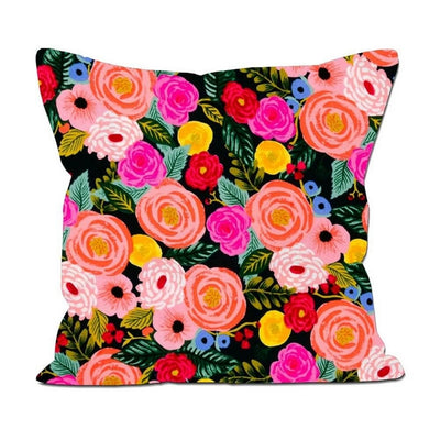 RIFLE PAPER CO - Square cushion - Juliet Rose navy 60 x 60 cm