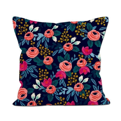 RIFLE PAPER CO - Square cushion - Rosa navy 60 x 60 cm