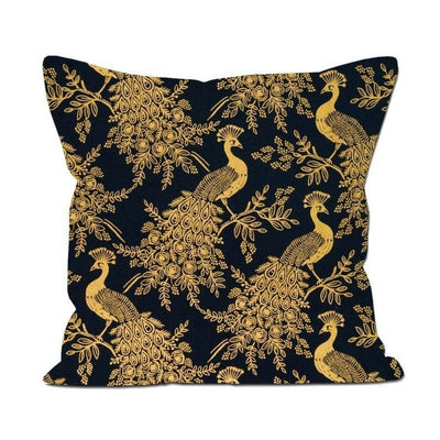 RIFLE PAPER CO - Square cushion - Peacock