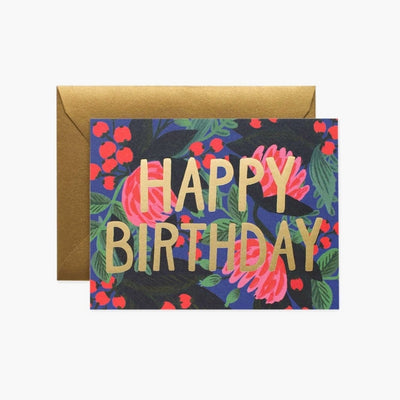 Greeting card - Floral Foil Birthday