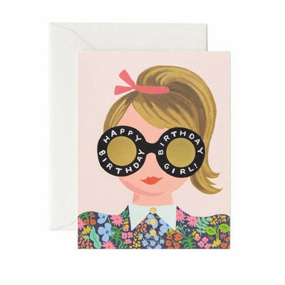 RIFLE PAPER CO - Birthday card - Meadow girl