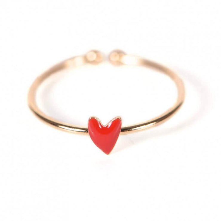 TITLEE - Gold and red heart ring - Grant