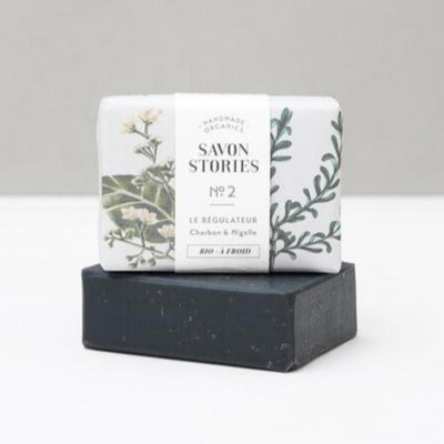 SAVON  STORIES - Solid soap coal - Organic cosmetics