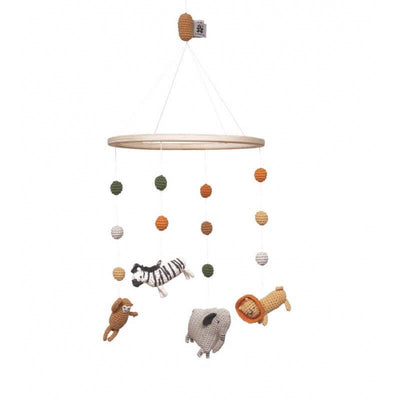 SEBRA - Crochet baby mobile - Wildlife