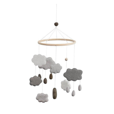 SEBRA - Grey clouds baby mobile