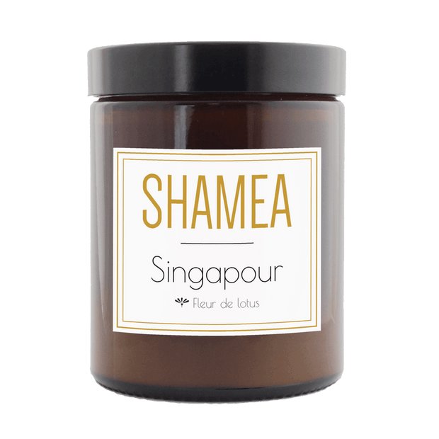 Singapour scented candle - Lotus flower