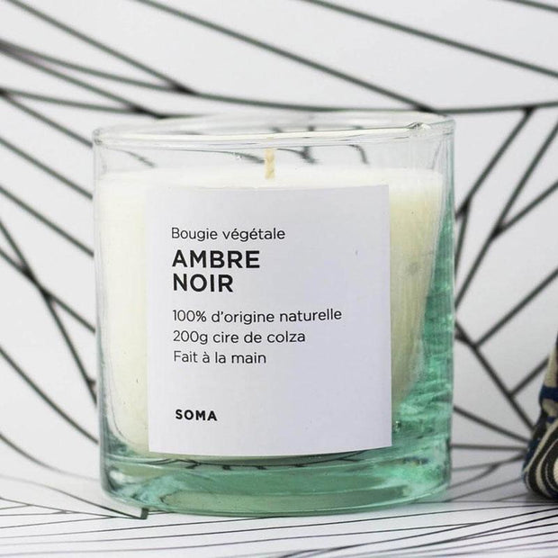 Natural candle - Black amber