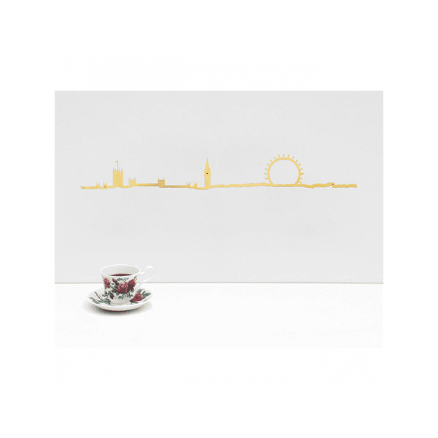 THE LINE - London gold skyline - Wall decoration