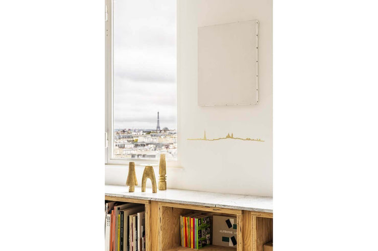 THE LINE - Paris skyline in gold steel - Original wall decoration