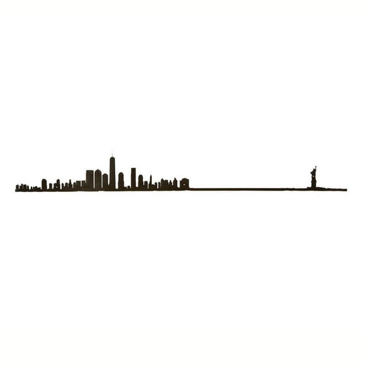 THE LINE - New York skyline in black steel