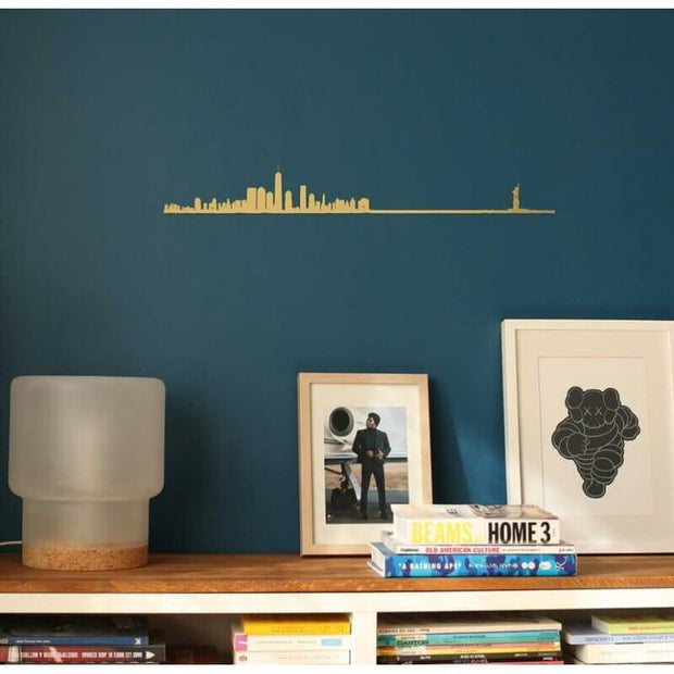 THE LINE - Original wall decoration - New York gold skyline
