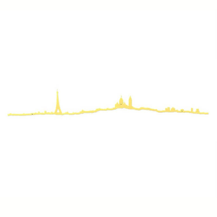 THE LINE - Paris skyline in gold steel