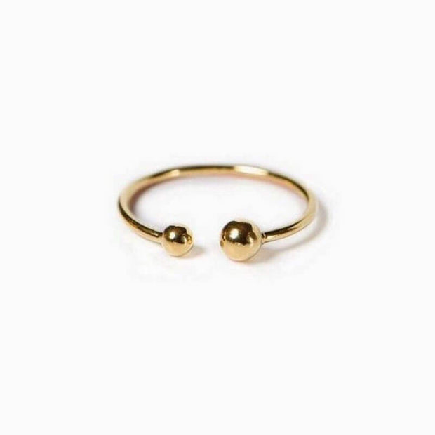TITLEE - Gold ring Soho 2 - Made in France