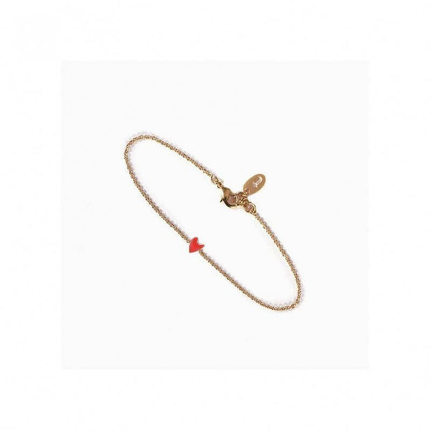 TITLEE - Heart-shaped bracelet Grant red