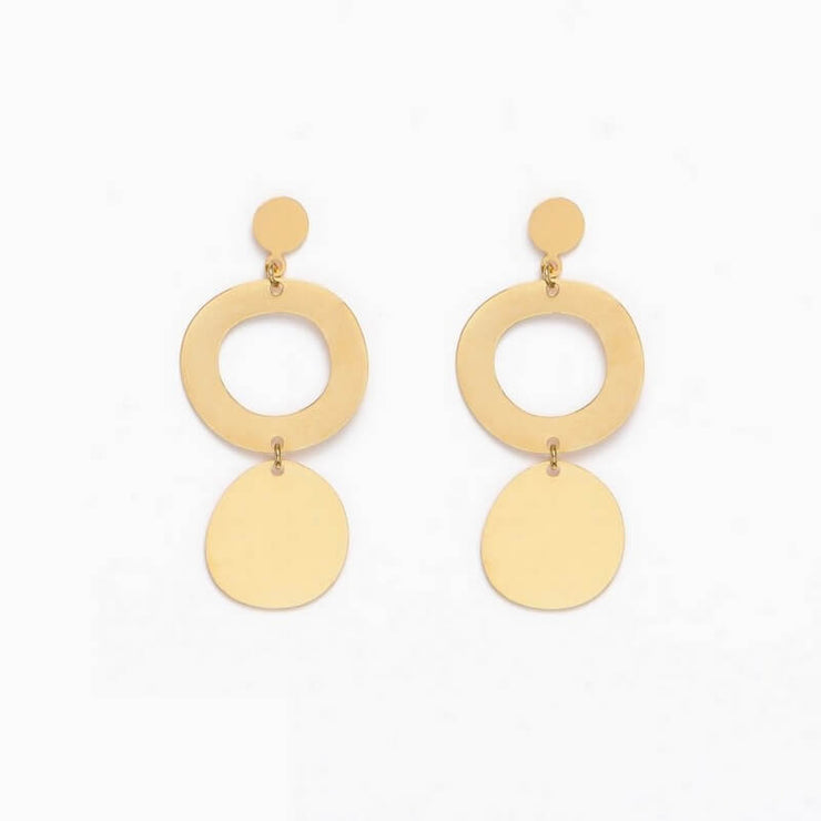 TITLEE - Gold earrings Baltic - Made in France
