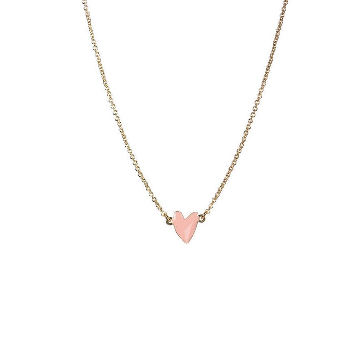 TITLEE PARIS - Heart-shaped Grant necklace - Pink