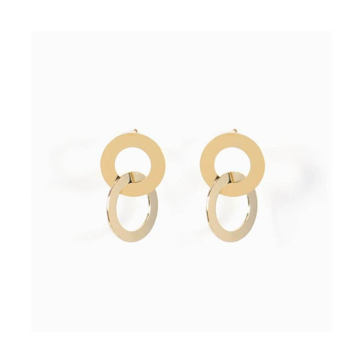 Oak earrings - gold
