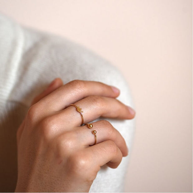 TITLEE - Delicate golden ring Soho 2 - Made in France