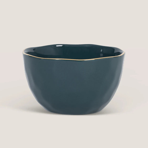 Porcelain bowl - Blue green