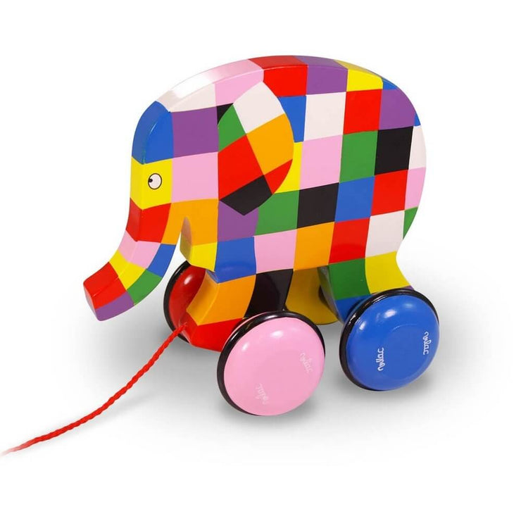 VILAC - Elmer the elephant - Pull along toy