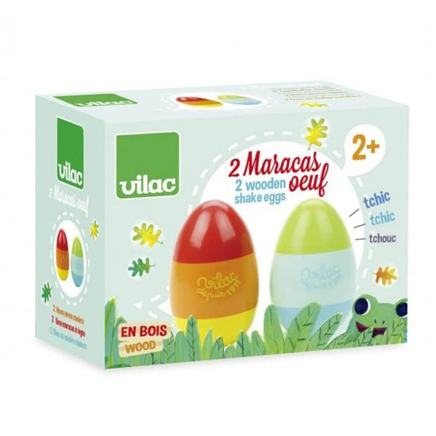 VILAC - Wooden egg-shaped maracas - French toy