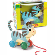 VILAC - Marcel the cat pull along toy - FRENCH BLOSSOM