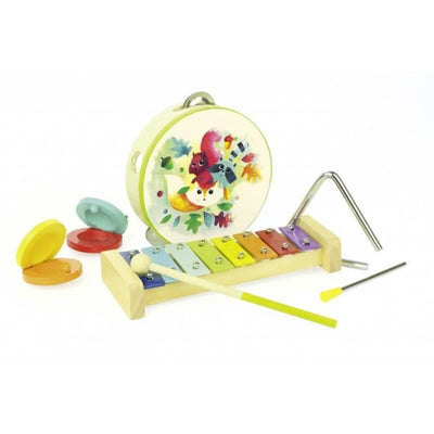 Music instruments set - woodland