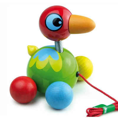 VILAC - Bird of Paradise pull along toy - Wooden toy