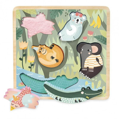 VILAC - Wooden puzzle jungle animals - Made in France