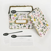 RIFLE PAPER CO - Vintage recipe box - Herb Garden - Open