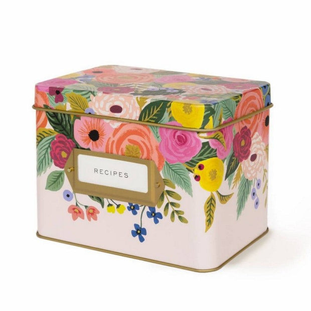 RIFLE PAPER CO - Vintage recipe box - Rosa