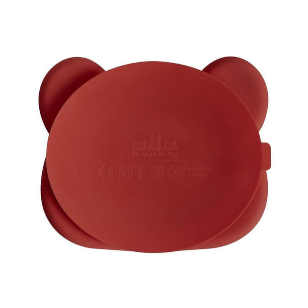 Silicon plate - Bear red