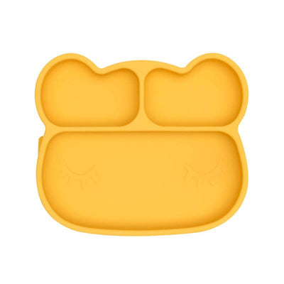 Silicon plate - Bear yellow