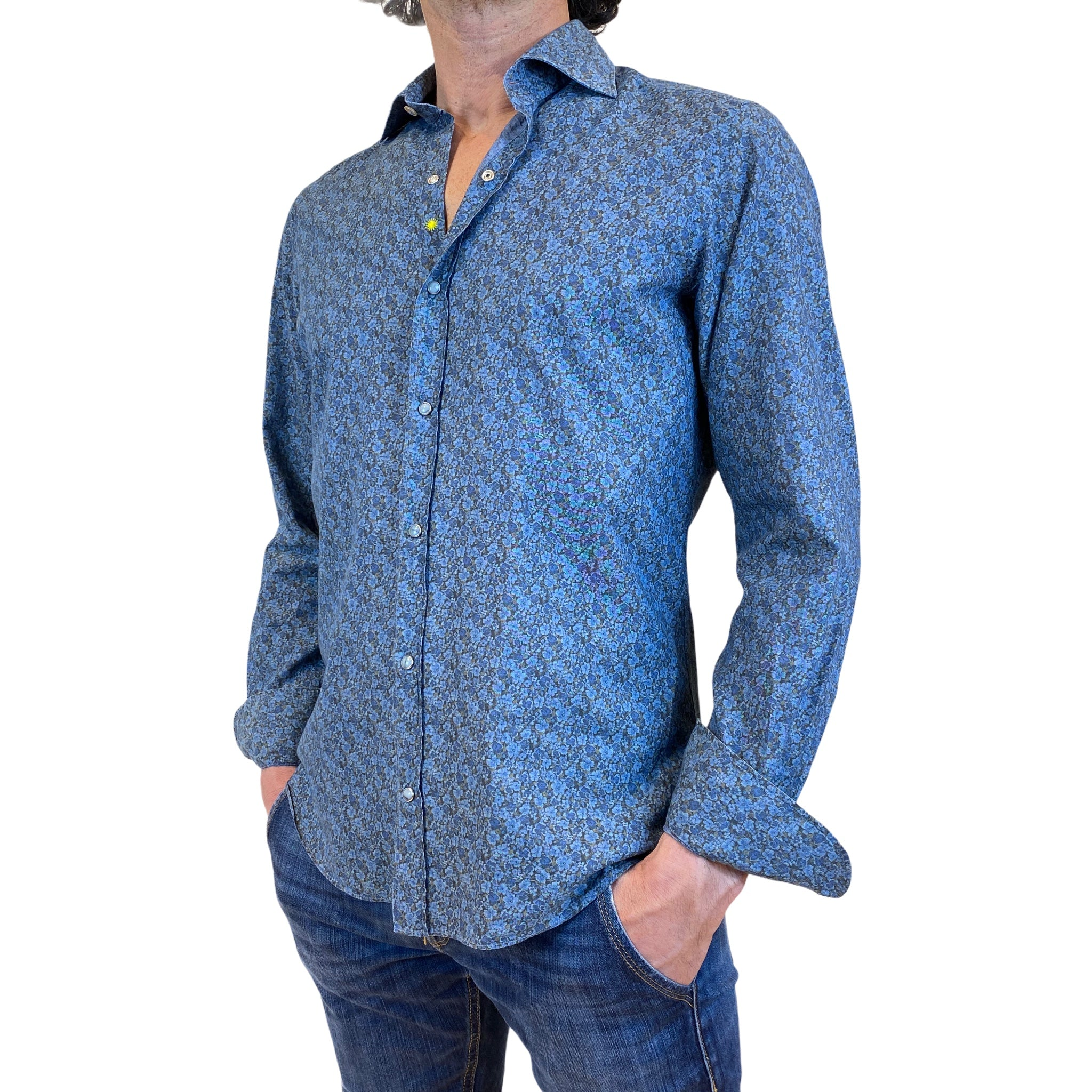 Giannetto Portofino patterned cotton shirt SS21 collection