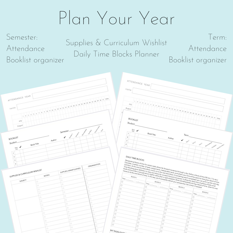 Plan Your Year Printable Set