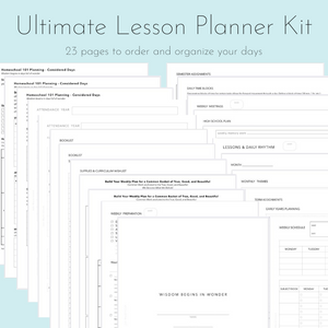 Ultimate Lesson Planner Kit