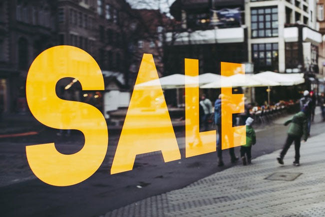 image of a storefront sale
