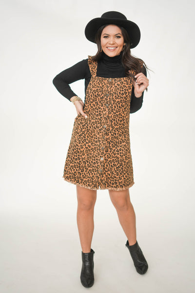 Kiss And Tell Cheetah Overall Dress