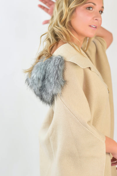 The Pippa Fur Lined Poncho