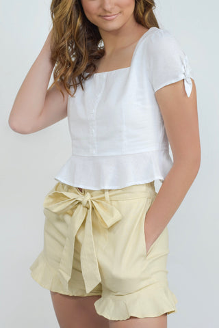 The Sadie Short Beige