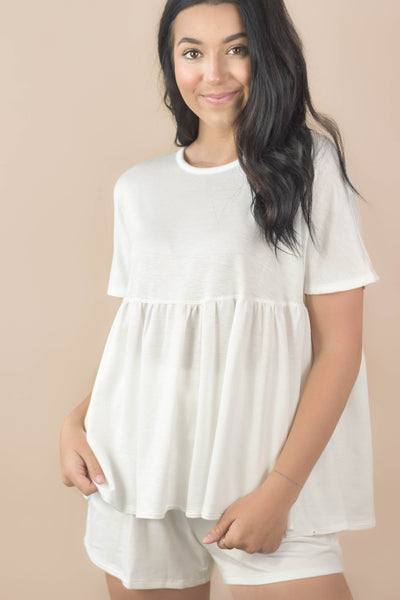 So Heavenly Babydoll Top