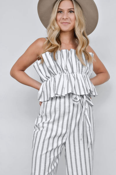 The Polly Pinstripe Jumpsuit