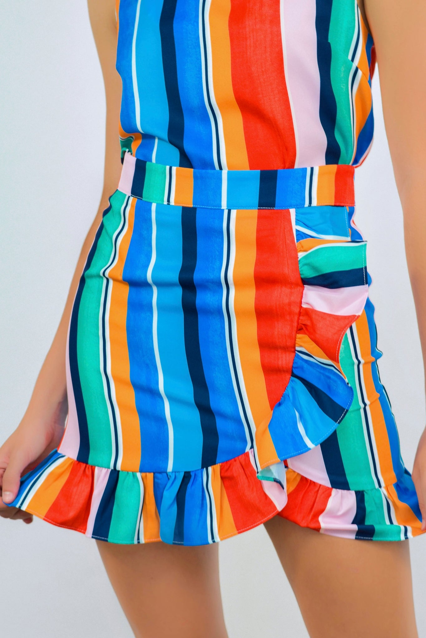 Carry Me To Cabo Ruffle Skirt