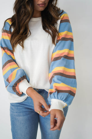 On A Cloudy Day Striped Top