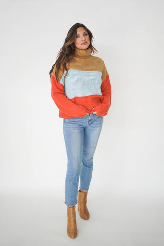 Bright Eyed Girl Turtleneck Sweater
