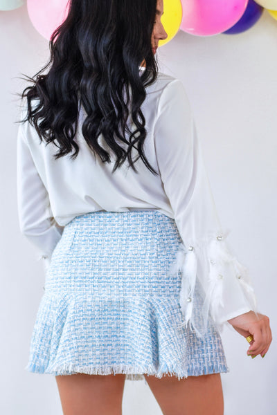 Just Skirting Around Skirt Blue