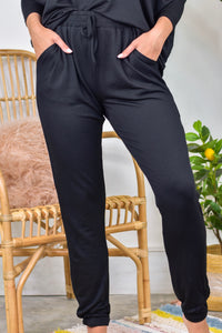 So Heavenly French Terry Joggers Black